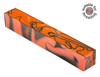 Kirinite Toxic Orange pen blank